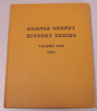 Image for Orange County History Series: Volume One, 1931