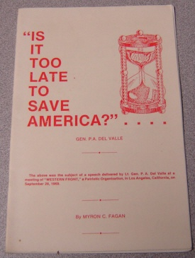 Image for Is It Too Late to Save America?...
