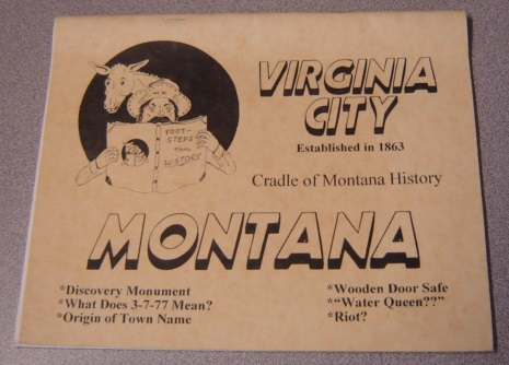 Image for Virginia City, Montana: Cradle of Montana History