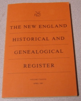 Image for The New England Historical And Genealogical Register, Volume CXXXVII, July 1983