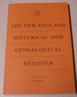 Image for The New England Historical and Genealogical Register, Volume CXXXVI, October 1982