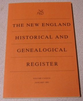 Image for The New England Historical and Genealogical Register, Volume CXXXVI, January 1982