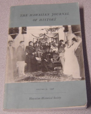 Image for The Hawaiian Journal Of History, Volume 32 - 1998