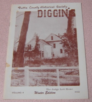 Image for Butte County Historical Society Diggin's, Volume 6, Number 4, Winter Edition 1962