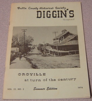 Image for Butte County Historical Society Diggin's, Vol. 22, No. 2, 1978, Summer Edition