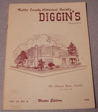 Image for Butte County Historical Society Diggin's, Vol. 24, No. 4, 1980, Winter Edition
