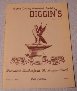 Image for Butte County Historical Society Diggin's, Vol. 24, No. 3, 1980, Fall Edition