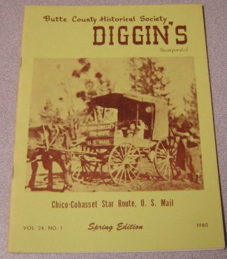 Image for Butte County Historical Society Diggin's, Vol. 24, No. 1, 1980, Spring Edition
