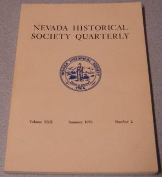 Image for Nevada Historical Society Quarterly, Volume 22 Number 2, Summer 1979