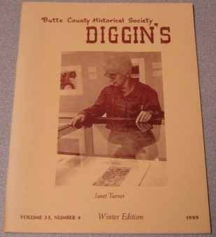 Image for Butte County Historical Society Diggin's, Volume 33, Number 4, Winter Edition 1989