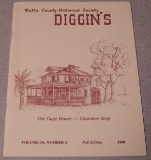 Image for Butte County Historical Society Diggin's, Volume 34, Number 3, Fall 1990