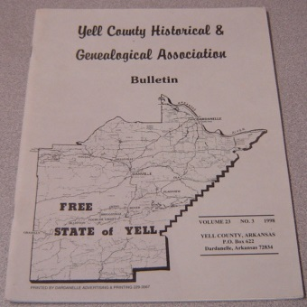 Image for Yell County Historical & Genealogical Association Bulletin, Volume 23 Number 3, 1998