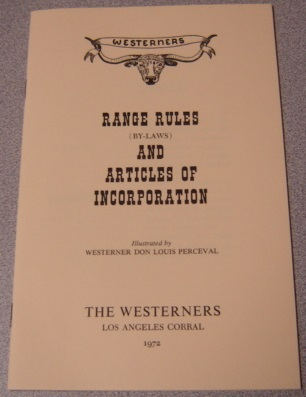 Image for Range Rules (By-Laws) and Articles of Incorporation