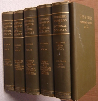 Image for Forchheimer's Therapeusis Of Internal Diseases, 5 Volumes Plus Desk Index