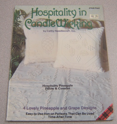 Image for Hospitality In Candle Wicking: 4 Lovely Pineapple And Grape Designs (#7649 Plaid)