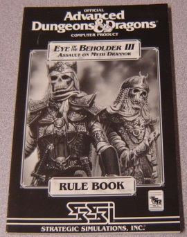 Image for Official Advanced Dungeons & Dragons Eye of the Beholder III: Assault on Myth Drannor Rule Book
