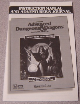 Image for Gateway to the Savage Frontier, Instruction Manual & Adventurer's Journal, Advanced Dungeons & Dragons, A Forgotten Realms Fantasy Role Playing Epic, Vol. I