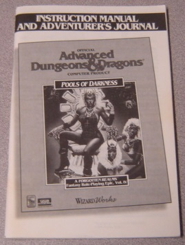 Image for Pools of Darkness, Instruction Manual & Adventurer's Journal, Advanced Dungeons & Dragons, A Forgotten Realms Fantasy Role Playing Epic, Vol. IV