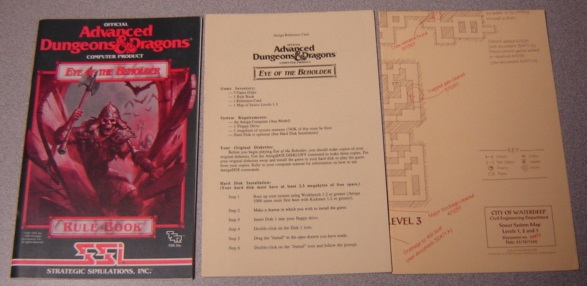 Image for Eye of the Beholder Rule Book, Official Advanced Dungeons & Dragons