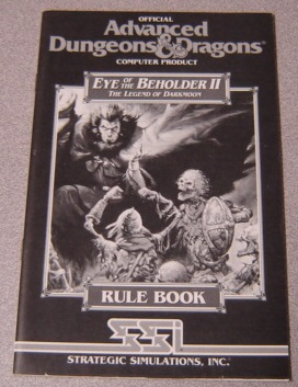 Image for Eye of the Beholder II: The Legend of Darkmoon Rule Book, Official Advanced Dungeons & Dragons