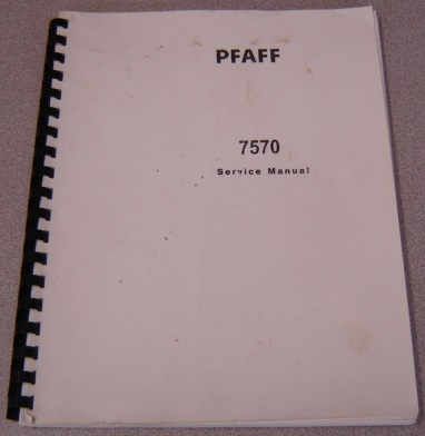 Image for Pfaff 7570 Sewing Machine Service Manual