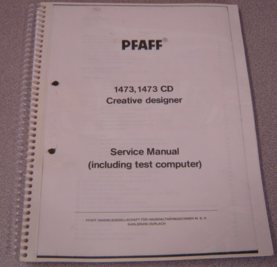 Image for Pfaff 1473, 1473 CD Creative Designer Sewing Machine Service Manual