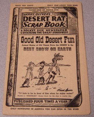 Image for Harry Oliver's Desert Rat Scrap Book, Packet One of Pouch Five, Kindness to Varmints Packet