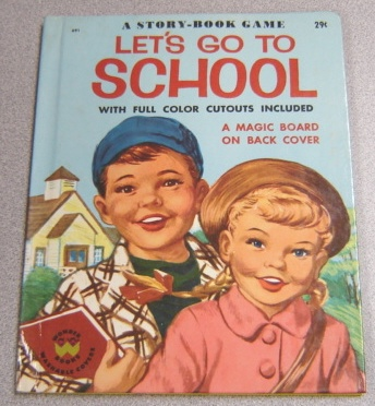 Image for Let's Go To School: A Story-book Game With Washable Covers (#691)