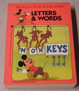 Image for Letters and Words (Mickey's Drill-a-Day Pads)