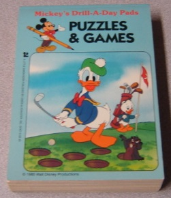 Image for Puzzles & Games (Mickey's Drill-a-Day Pads)
