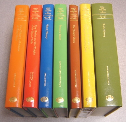 Image for World Book Treasury Of Classics, 7 Volume Set: Jungle Book, Little Women, King Arthur & Knights Of The Round Table, Robin Hood, Alice In Wonderland & Through The Looking Glass, Black Beauty, Treasure Island