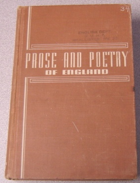Image for Prose And Poetry Of England