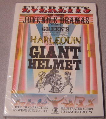 Image for Green's Harlequin And The Giant Helmet (everett's Plain & Coloured Juvenile Dramas)