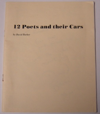 Image for 12 Poets And Their Cars; Signed