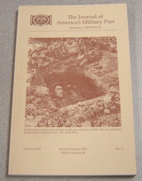 Image for Journal Of America's Military Past Vol XXIX No 3, Spring/summer 2003, Whole 96
