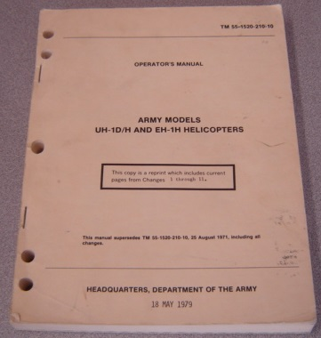 Image for Operator's Manual, Army Models UH-1D/H and EH-1H Helicopters (TM 55-1520-210-10)