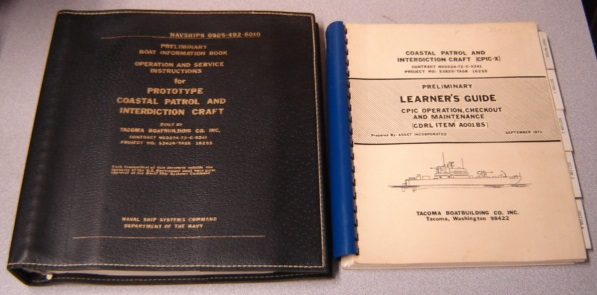 Image for Preliminary Boat Information Book, Operation & Service Instructions for Prototype Coastal Patrol & Interdiction Craft (CPIC-X) and Preliminary Learner's Guide, 2 Volume Set (NAVSHIPS 0905-492-6010)
