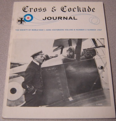 Image for Cross & Cockade Journal - Society of World War 1 Aero Historians - Volume 8 - Number 2 - Summer 1967