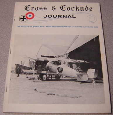 Image for Cross & Cockade Journal - Society of World War 1 Aero Historians - Volume 7 - Number 3 - Autumn 1966