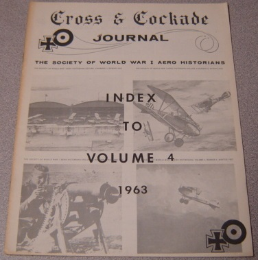 Image for Cross & Cockade Journal, Index to Volume 4, 1963