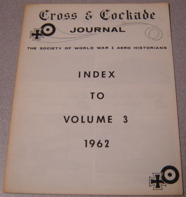 Image for Cross & Cockade Journal, Index to Volume 3, 1962