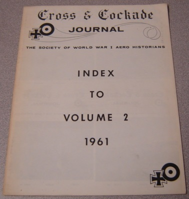 Image for Cross & Cockade Journal, Index to Volume 2, 1961