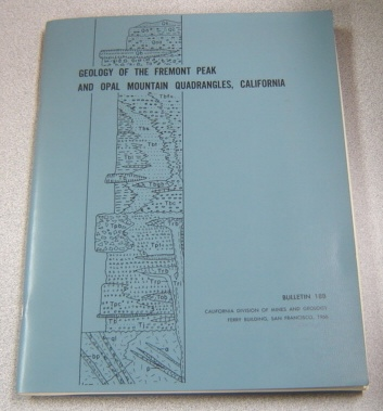 Image for Geology of the Fremont Peak and Opal Mountain Quadrangles, California (Bulletin 188)