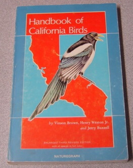 Image for Handbook Of California Birds, Enlarged Third Revised Edition