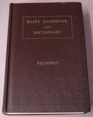 Image for Dairy Handbook and Dictionary
