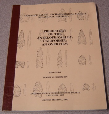 Image for Prehistory of the Antelope Valley, California: An Overview (Antelope Valley Archaeological Society Occasional Paper No. 1)