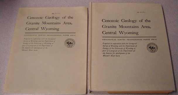 Image for Cenozoic Geology Of The Granite Mountains Area, Central Wyoming, 2 Volume Set (Geological Survey Professional Paper 495-C)