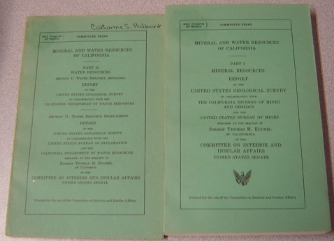 Image for Mineral And Water Resources Of California, Parts I & II, 2 Volume Set