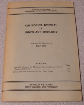 Image for California Journal Of Mines And Geology, Volume 52, Number 3, July 1956