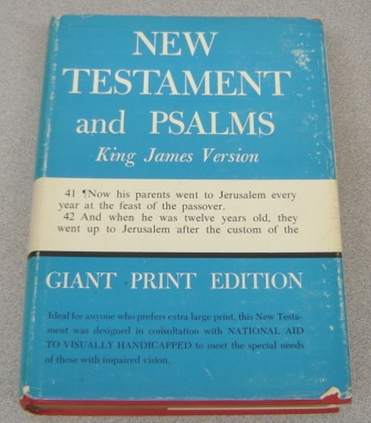 Image for New Testament and Psalms, King James Version, Giant Print Edition